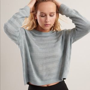 ✨ 3 FOR $25 ✨ Green blue ribbed crew neck sweater